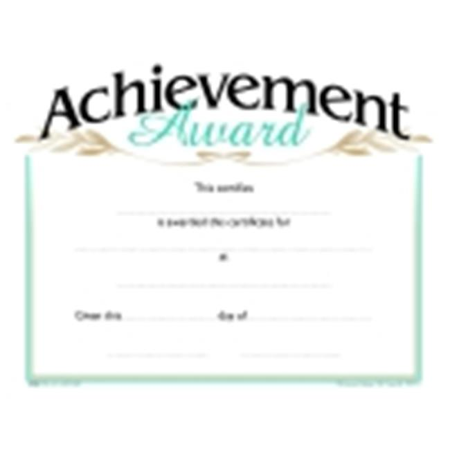 School Specialty Raised Print Achievement Recognition Nuline Award, Pack - 25