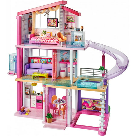 New Barbie Dreamhouse Playset With 70 Accessory Pieces