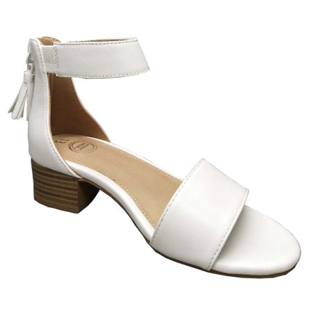 Girls' Dress Sandal (White Girls Dress Shoes)