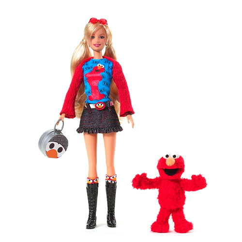 Mattel Barbie & TMX Tickle Me Elmo Doll Set Sesame Street Fun by Mattel