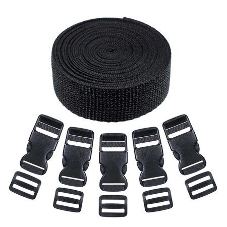 Craft County Webbing and Buckle Kits - Comes with Webbing, Buckles, and Tri-Glide (Womens Tri Kits)