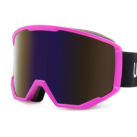 Ski Snowboard Goggles Dual Lens Anti-Fog UV400 Adjustable Strap
