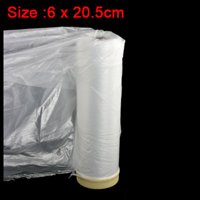 Unique Bargains Clear Plastic Protection Masking Film Roll for Auto Car