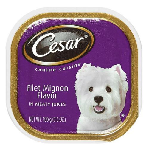 Cesar Canine Cuisine Filet Mignon in Meaty Juices 3.50 oz (Pack of 3)