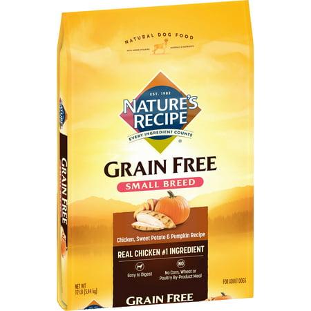 Halloween Food Recipe (Nature's Recipe Small Breed Grain Free Easy to Digest Chicken, Sweet Potato & Pumpkin Recipe Dry Dog Food,)