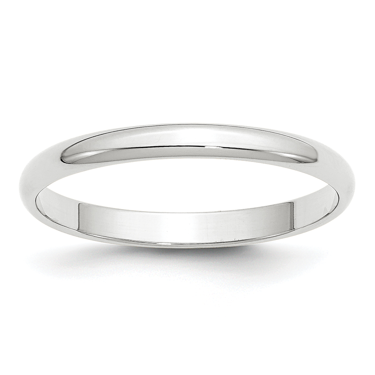 14K White Gold 2.5mm Light Weight Half Round Band Size 4.5 - image 3 of 3