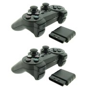 TekDeals 2x Wireless 2.4GHz Dual Shock Game Controller for Sony PS2 Playstation 2