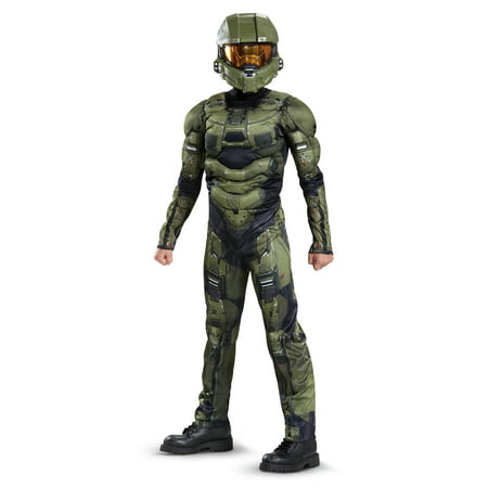 Halo Boys' Master Chief Classic Muscle Costume - Halo Covenant Costumes