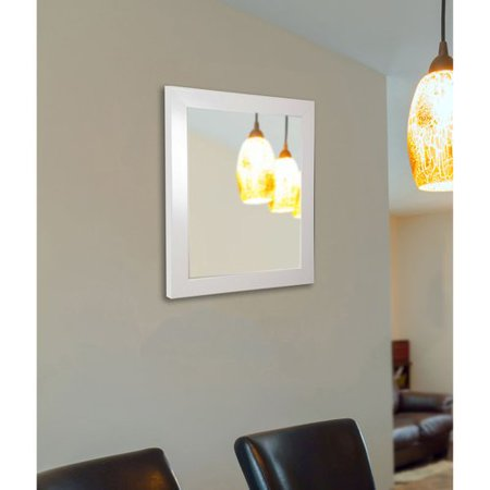 Rayne Mirrors Polished White Wall Mirror