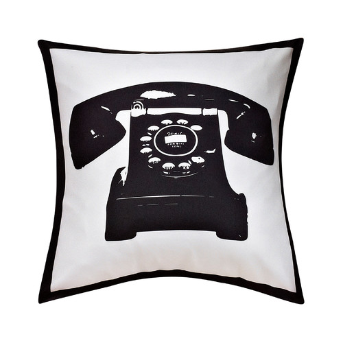 cathay home Swift Home Collection Fun Decorative Throw Pillow-telephone