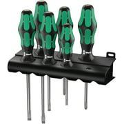 Wera 05105650001 334/6 Rack Screwdriver Set Kraftform Plus Lasertip and Rack