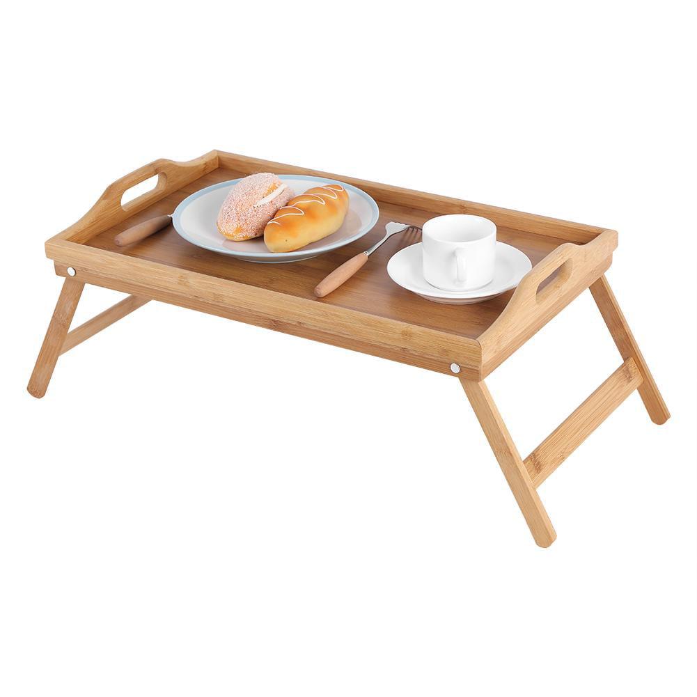 Yosoo Portable Bamboo Wood Bed Tray Breakfast Laptop Desk