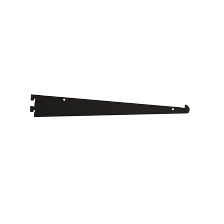 "Econoco - GA12/MAB - 12"" Matte Black Tap-in Style Shelf Bracket For President Line Slotted Standards - Sold in Pack of 25"