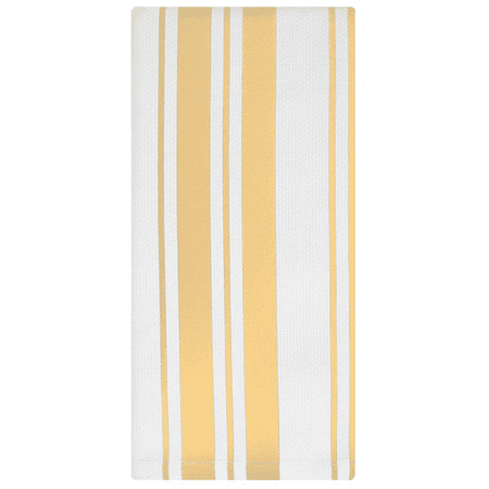 MU Kitchen Cotton Stripe Basketweave Dish Towel - Daffodil - Mu Kitchen Cotton