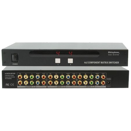Sdi Matrix Routing Switcher - Shinybow SB-5470M 4x2 Component Video Matrix Routing Switcher w/3-Yr Warranty