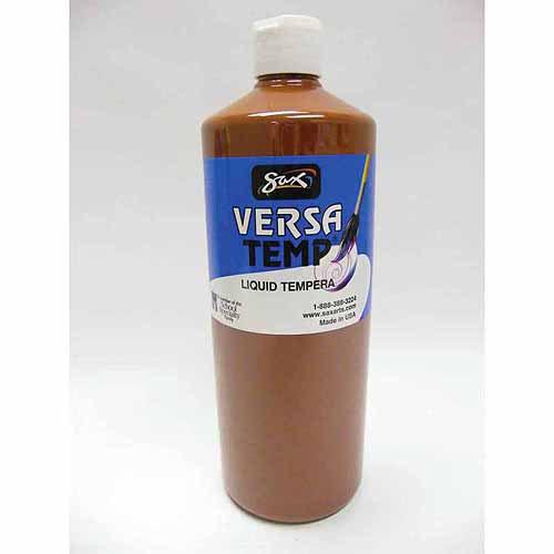 Sax Versatemp Heavy-Bodied Tempera Paint, Primary Red, 1 Quart