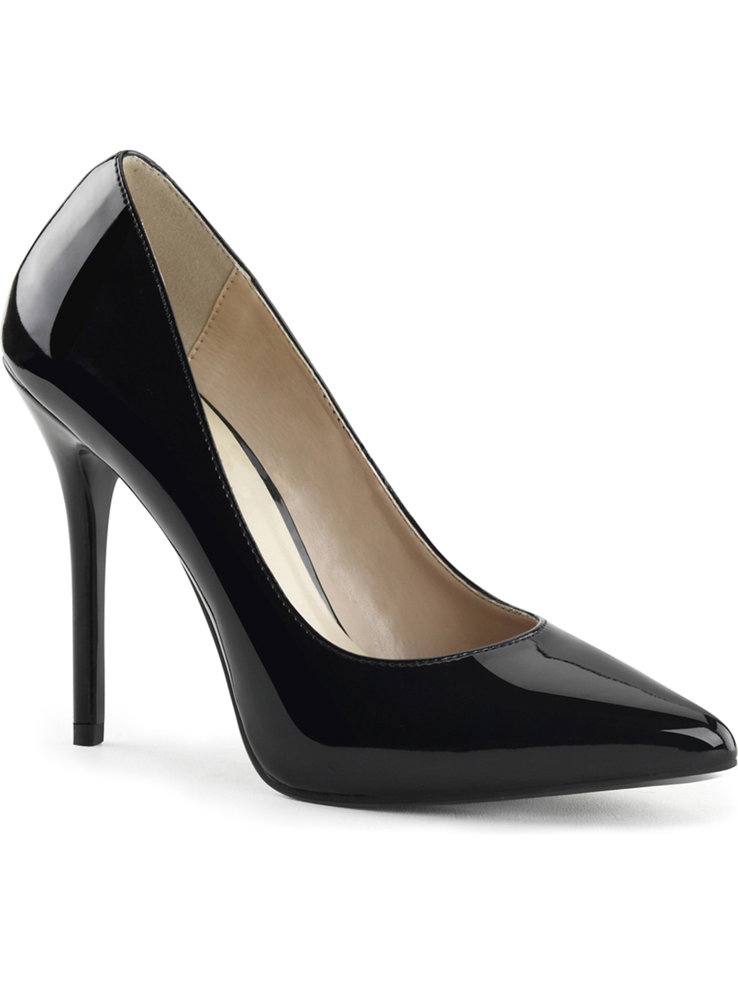 High Heel Pumps Black Pointed Toe Shoes