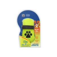FURminator Curry Comb For Dogs, For Short And Medium Coats