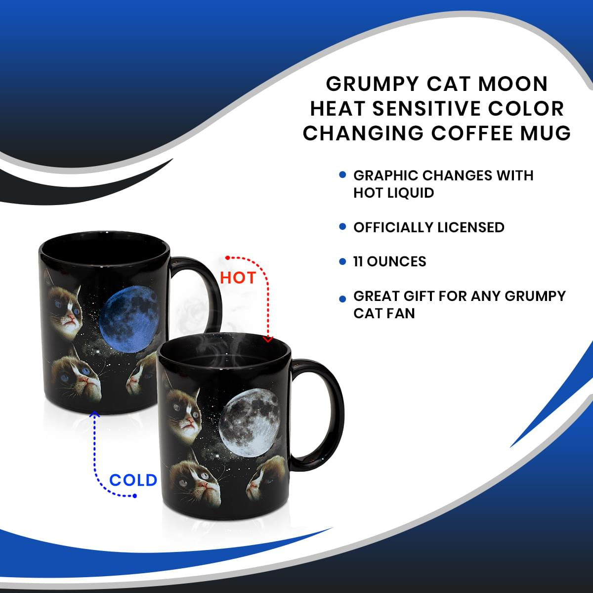 #2 Vintage Halloween Cat Postcards Graphic Coffee Mug