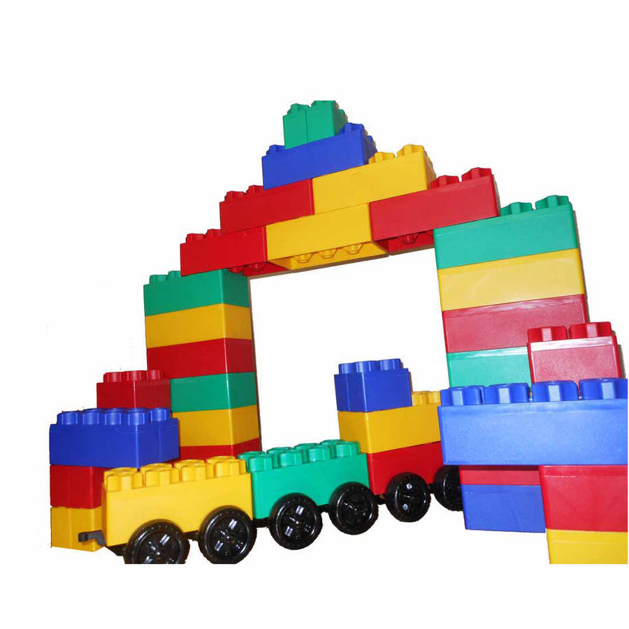Jumbo Blocks Train Station Play Set, 60 Pieces by Serec Entertainment