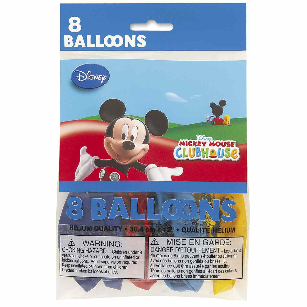 Mickey Mouse Clubhouse Party Balloons [8 Per pack]