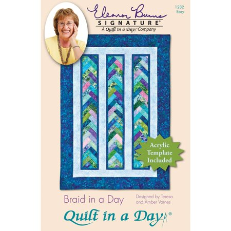 Eleanor Burns Patterns, Braid in a Day, This package contains one pattern booklet and one acrylic template By Quilt In A Day