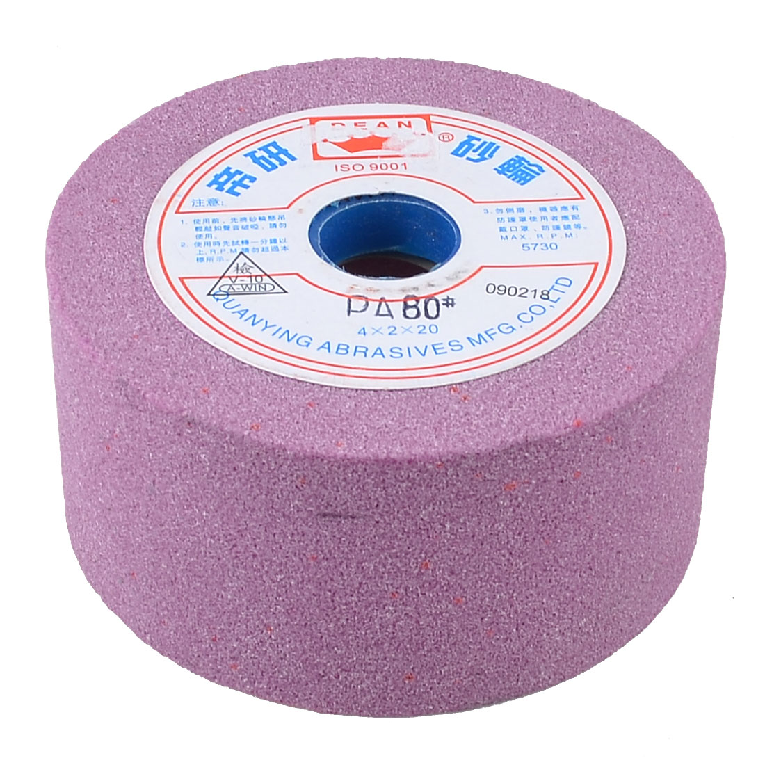 100mm OD 50mm Thick 80 Granularity 5730RPM Abrasives Internal Grinding Wheel
