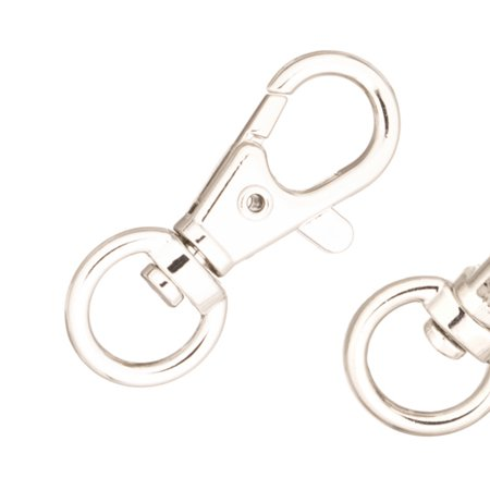 Swivel Base Lobster Claw Clasp, Platinum-Finished Large Finding Clasp 40x16mm Sold per pkg of (Lobster Base)