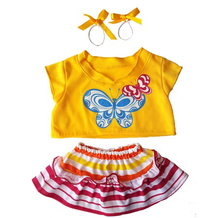 Butterfly Two-Piece Outfit Teddy Bear Clothes Fits Most 14