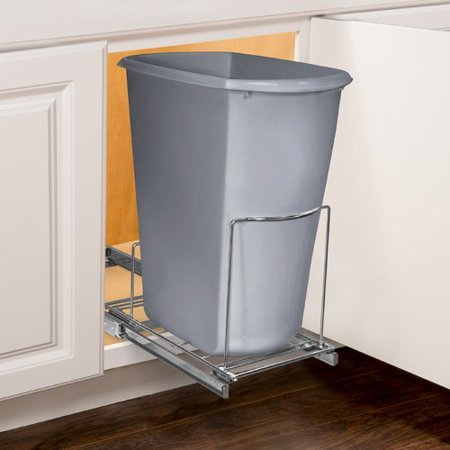 Wide Sliding Cabinet Organizer (Lynk Professional® Slide Out Bin Holder - Pull Out Under Cabinet Sliding Organizer - 10.1 inch wide x 20.02 inch deep -)