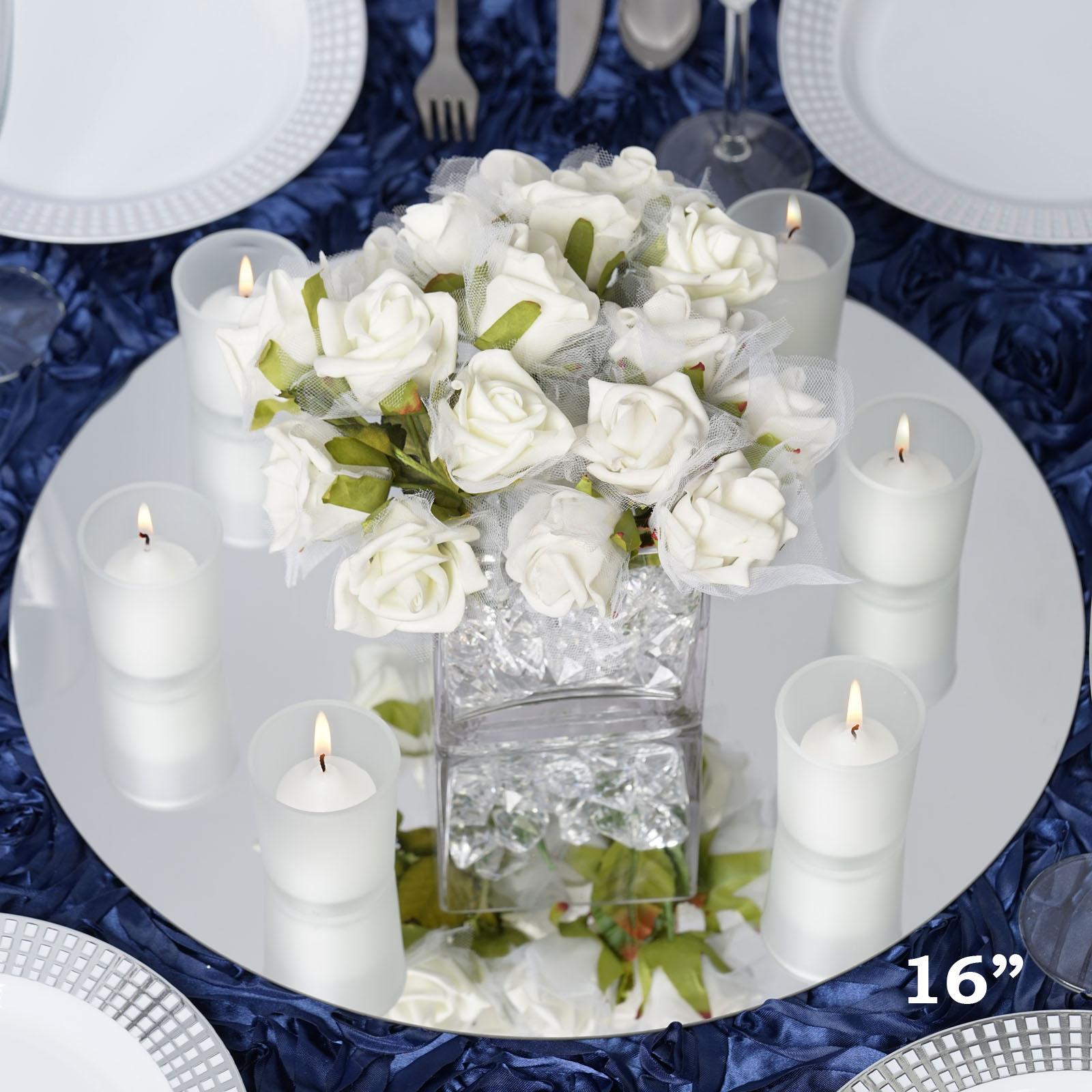 "12 pc x Round 16"" Glass MIRROR Wedding Table Decoration ...   450 x 450 jpeg 43kB"