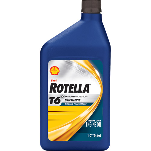 Shell Rotella 5W-40 Synthetic Motor Oil, 1 qt.
