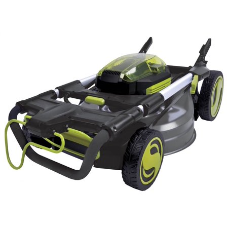 Sun Joe iON100V-21LM 100-Volt iONPRO Cordless Self Propelled Lawn Mower Kit, 21-Inch, W/ 5.0-Ah Battery and Charger