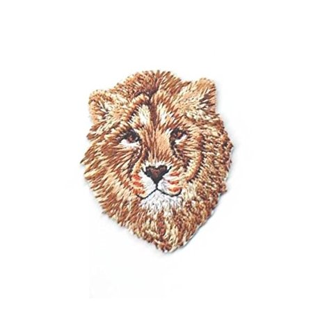 Natural - African Lion Head - Iron On Applique/Embroidered Patch