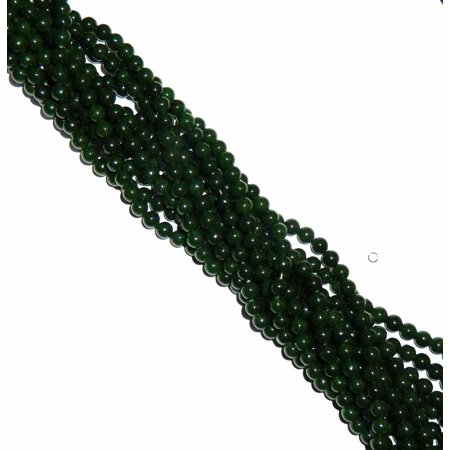8mm Jade British Columbia Round, Loose Beads, 40 cm 15 inch Gemstone