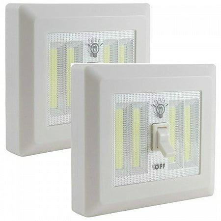 Battery Operated Cordless Led Jumbo Dual Light Switch 400 Lumens Batteries Included Under