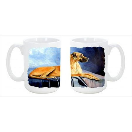 Natural Fawn Great Dane Dishwasher Safe Microwavable Ceramic Coffee Mug 15 oz. - image 1 de 1