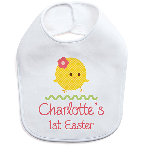 Personalized Girl's First Easter Bib