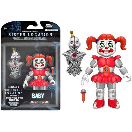 FUNKO 5 ARTICULATED ACTION FIGURE: FIVE NIGHTS AT FREDDY'S - BABY (Five Freddy's At Night)