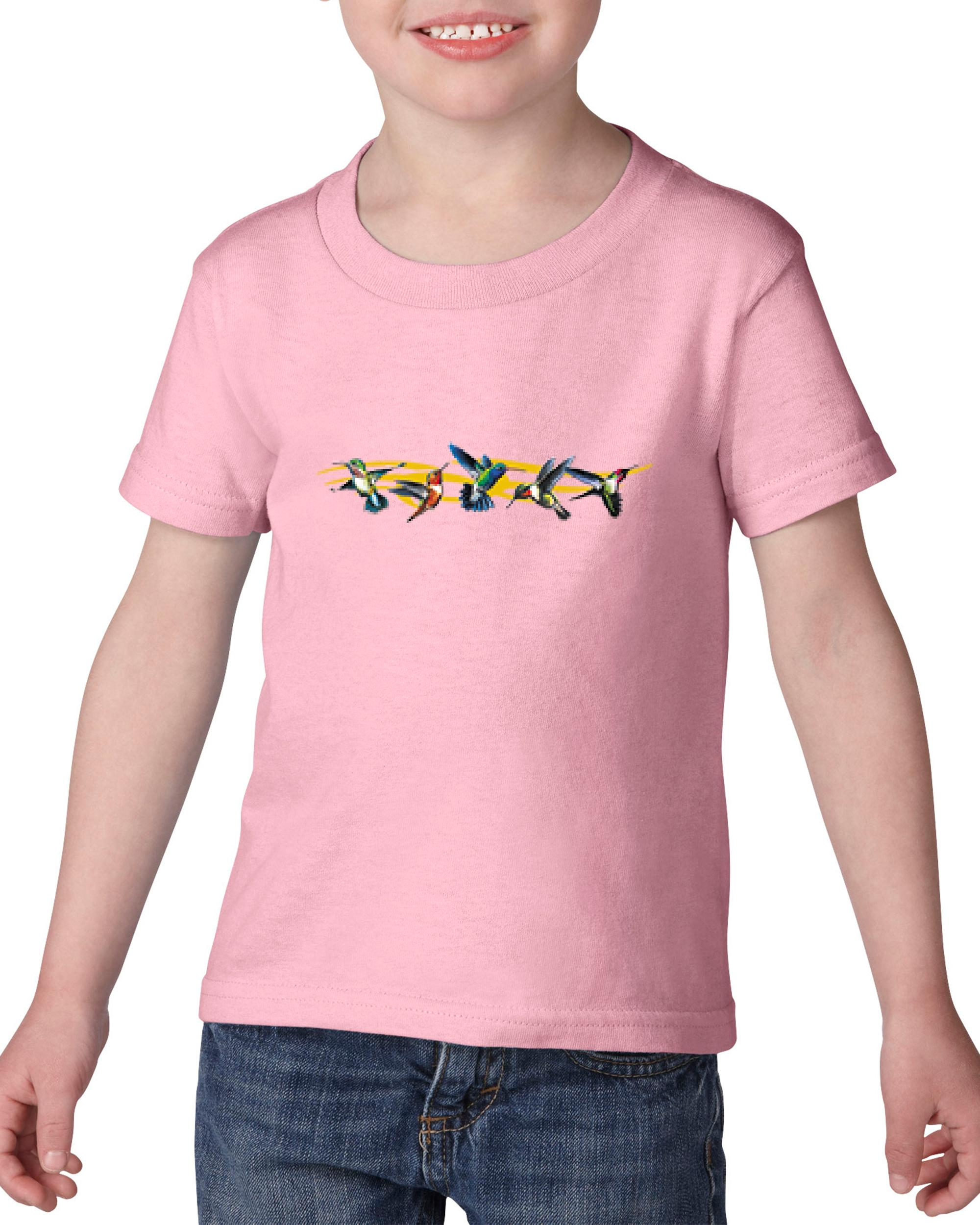 Artix Humming Birds Group Tribal Christmas Birthday Gift Match W Hats Maps Bags Jeans Heavy Cotton Toddler Kids T-Shirt Tee Clothing