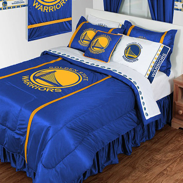 NBA Golden State Warriors Comforter and Pillowcase Set Basketball Team Logo Bedding