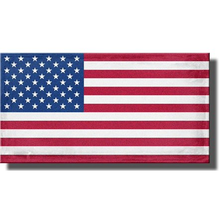 American Flag Picture, USA Flag on Stretched Canvas Wall Art Decor Ready to Hang!. (Hang Flag On Wall)