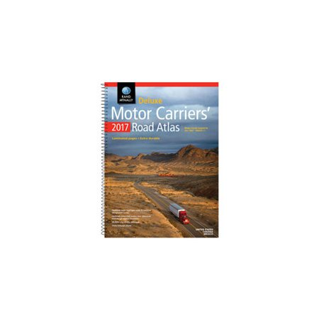 RAND MCNALLY 0528015729 2017 DELUXE MOTOR CARRIERS     ROAD ATLAS Deluxe Motor Carriers Road Atlas