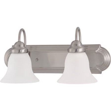 Replacement for 60/3322 BALLERINA ES 2 LIGHT 18 INCH VANITY WITH FROSTED WHITE GLASS 2 13W GU24 LAMPS INCLUDED BRUSHED NICKEL TRADITIONAL