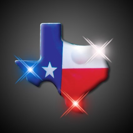 FlashingBlinkyLights Texas Flashing Blinking Light Up Body Lights Pins - Pin Up Lights