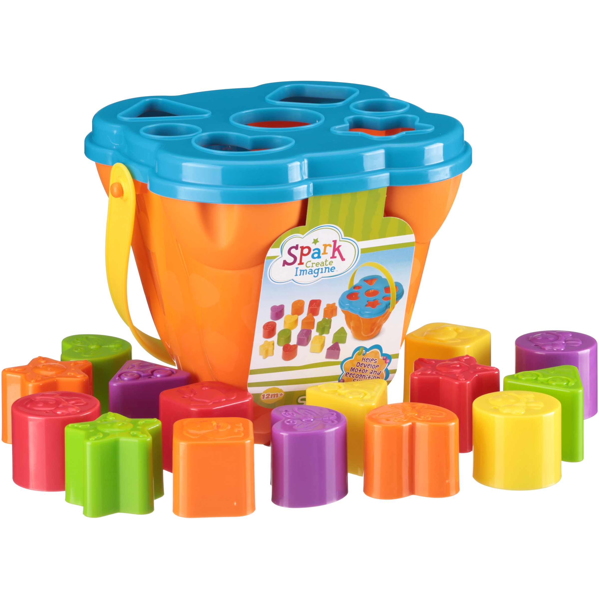Spark. Create. Imagine. 15-Piece Shape Sorter, Vividly Colored