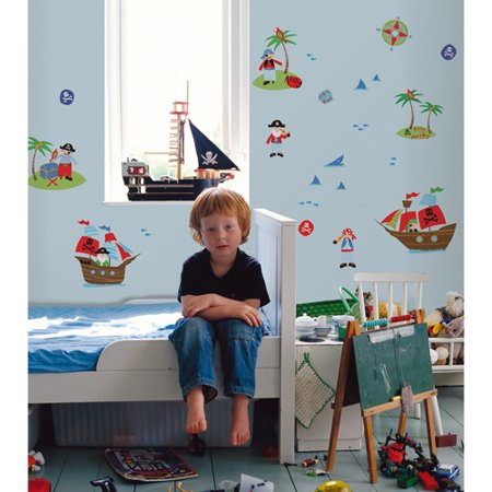 Fun4Walls Pirates Wall Stickers (Pirate Stickers)