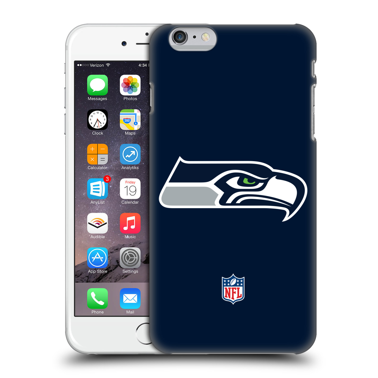 OFFICIAL NFL SEATTLE SEAHAWKS LOGO HARD BACK CASE FOR APPLE IPHONE PHONES