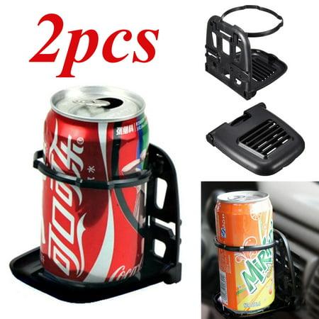 2PCS Car Truck Air Vent Mount Cups Bottle Folding Beverage Drinks Stand Holder