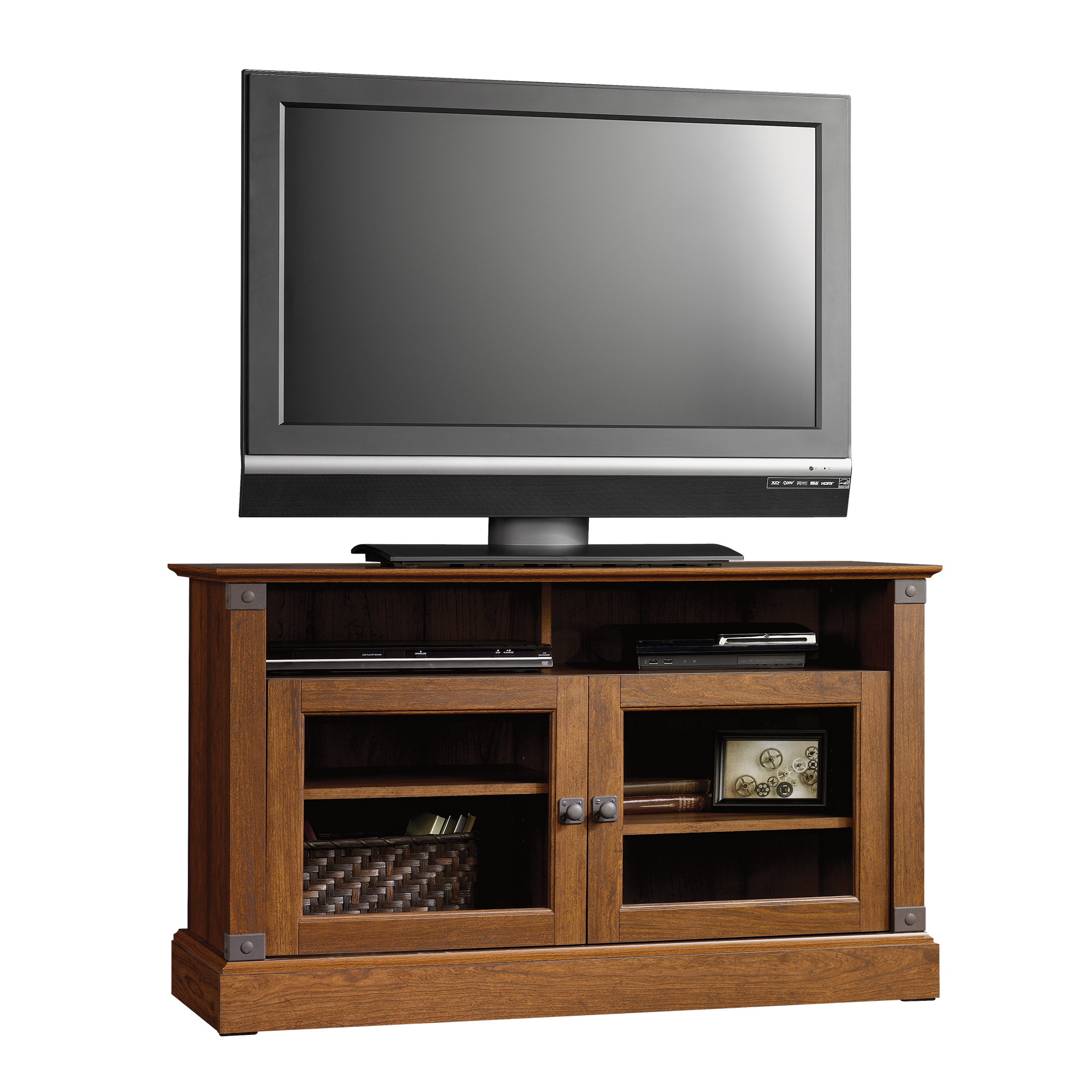"Sauder Carson Forge Panel TV Stand for TVs up to 47"", Washington Cherry Finish"
